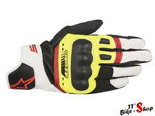 "Alpinestars ""SP-5, Motorrad-Handschuhe in Neongelb-Rot, Größe S M L XL XXL kurz"