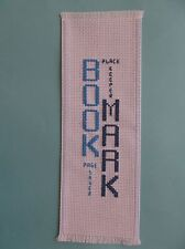 Completed Cross Stitch Bookmark - BOOK MARK