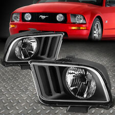 FOR 2005-2009 FORD MUSTANG S197 PAIR BLACK HOUSING CLEAR CORNER HEADLIGHT/LAMP