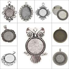Metallanhänger Fassungen für Cabochon Medaillons Schmuck Wählen Sie Das Modell