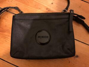 MIMCO Couch Crossbody HIP Bag Black Leather Brand New Never Used Handbag Purse