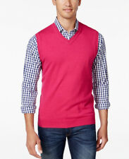 New Mens Club Room V Neck Cotton Blend Sleeveless Sweater Vest