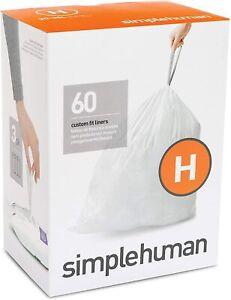 Simplehuman Code H Bin Liners - Pack of 60