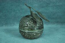 Antique Judaica Silver Spice Box Besamin Tunisia silver mark apple design