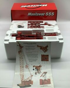 Manitowoc 555 Boom Yellow Crawler Crane,  CCM 1:50 Scale Model, NIB