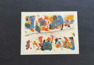 """Sam Francis """"The White Line""""  Mounted offset Color Lithograph  1973"""