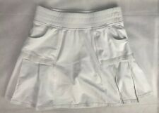 ATHLETA Any Sport SKORT Skirt Shorts Tennis Pockets Stretch White Size XS