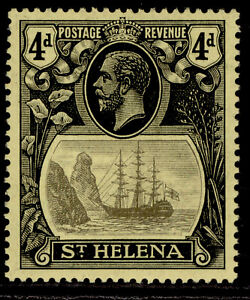 ST. HELENA GV SG92, 4d grey & black/yellow, LH MINT. Cat £15.