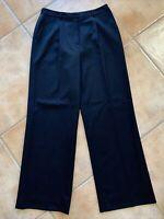 Brooks Brothers Womens Sz 8 Black Career Dress Pants One Pleat 100% Wool Lined