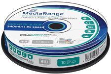 10 Mediarange Rohlinge DVD+R Double Layer full printable 8,5GB 8x Spindel