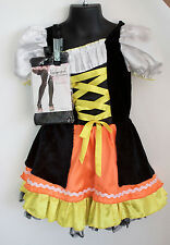 Girls' Princess Paradise Candy Corn Witch Costume Dress Tights 3-5 yrs (S) c4