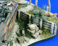 VERLINDEN PRODUCTIONS #1718 Palm Tree Sea Wall Elements (2 Stück) in 1:35