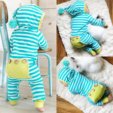 US Stock Newborn Baby Boy Girl Striped Romper Bodysuit Jumpsuit Outfits 0-3M 03