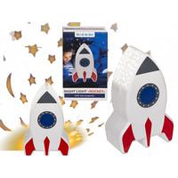 Night Light Projector Space Rocket Starry Night Sky Galaxy Lamp Kids Room