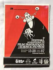 Programme 5e Festival Inter Film Fantastique et Sciences-Fiction 1987 / FRANQUIN