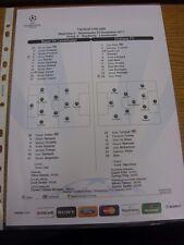 23/11/2011 Farbe Teamsheet: Bayer Leverkusen V Chelsea [Champions League] (TACT