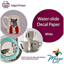 Waterslide Decal Paper, INKJET WHITE  8.5
