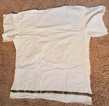 Roman Greek Goddess God Toga Grecian White Gold Trim Adult Halloween Costume EUC