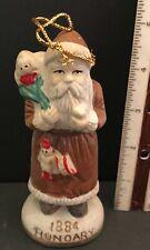 Santa 1884 Hungary Claus Christmas Figurine Hand Painted Midwestern Home Vintage