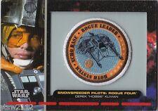 STAR WARS GALACTIC FILES PR-20 EMBROIDERED PATCH SNOWSPEEDER PILOT ROGUE FOUR