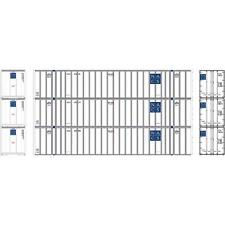 NEW ATHEARN HO NCDU / NACS 53' STOUGHTON CONTAINER 3-PACK #3