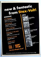 STAX VOLT RECORDS 1966 vintage POSTER ADVERT BOOKER T. & THE M.G.'S OTIS REDDING