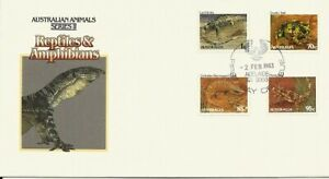 1983 Australia - Animals II Reptiles & Amphibians FDC - FDI Adelaide SA 5000 PMK
