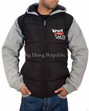 Ecko Mens Boys Full Zip Padded Body Warmer Jacket Hip Hop Money Is Time Grey/Blk