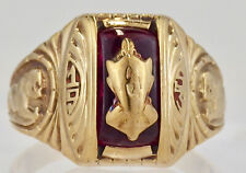 Vintage 10K Yellow Gold 1953 High School Class Ring Panther Size 7 3/4
