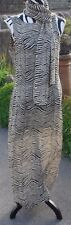 ELENA ZEBRA PRINT DRESS AND MATCHING SCARF SIZE 14 PRE LOVED WEDDING