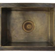 Handmade Kitchen Sink Brass Patina-rectangle Antique Hammered vessel Basin
