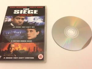 """VGC """"The Siege"""" Bruce Willis, Denzel Washington DVD"""