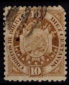 BOLIVIA 1894 New Coat of arms Scott #43 10c. brown STAMP