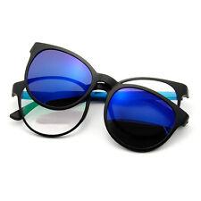 UK Men Women Polarized UV400 Lenses Clip-on Flip-up Myopia SunGlasses -1.0~5.0