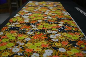 Japanese Woollen Fabric Colourful Floral Design 1556