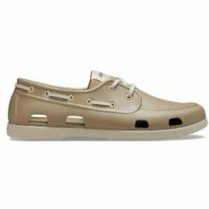 Crocs Size 9 Khaki Boat New Mens Shoes