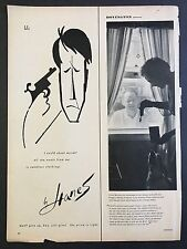 1959 Vintage Ad for Hanes Seamless Stockings - Man with Gun to His Head