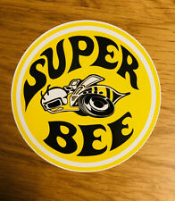 Super Bee giallo adesivo sticker old school OEM DODGE Hot Rod Mustang JDM mi110