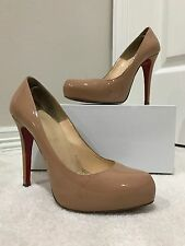 Christian Louboutin Rolando 120 - Nude - Patent Leather - Size 37
