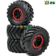 4pcs RC 2.2'' Truck Crawler Tires 130mm & 2.2 Beadlock Wheels For Axial RC 4WD