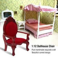 1:12 Scale DIY Wooden Dining Table Chairs Set Dollhouse Miniature Furniture Toy