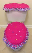 BATH SET, 2 PC Home CRAFT Gift Mother´s Day Decoration COTTON FABRIC HOMEMADE
