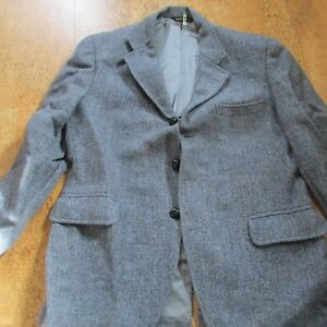 Jos A Bank 40R Charcoal Gray Tweed Wool Jacket or Coat Three Buttons
