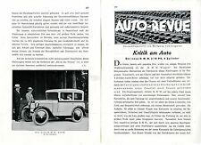 Der neue BMW 3/15 PS 4 Zylinder Kritik am Auto von Wolfgang v.Lengerke c.1930