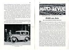 La nouvelle BMW 3/15 ps 4 cylindre critique du voiture de wolfgang v. Lengerke c.1930