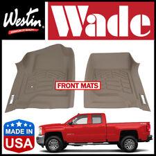 Westin Wade Sure-Fit 2015-2018 Chevrolet Silverado Front Row Floor Mats TAN