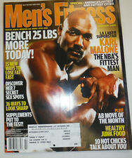 Men's Fitness Magazine Karl Malone & 15 Ways To Lose Fat February 2004 030615R
