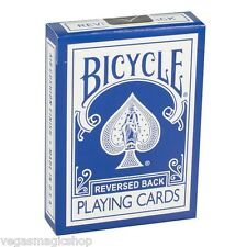 Blue Ice Reversed Back Deck Bicycle Playing Cards Poker Size USPCC +Magic Tricks