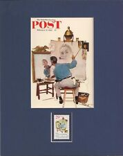 Norman Rockwell - Self Portrait - Frameable Postage Stamp Art - 0198