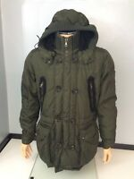 "MONCLER khaki Green Duck New Down Coat Size 5 XL P2p 25.5"" Inches Mens"